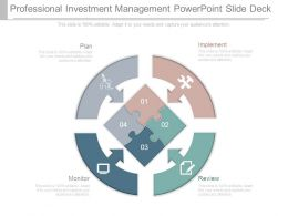 Professional Investment Management Powerpoint Slide Deck