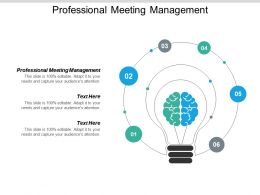 Professional Meeting Management Ppt Powerpoint Presentation File Templates Cpb