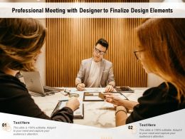 Professional Meeting With Designer To Finalize Design Elements
