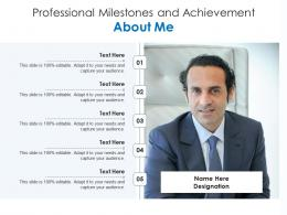 Professional Milestones And Achievement About Me Infographic Template