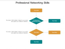 Professional Networking Skills Ppt Powerpoint Presentation Samples Cpb