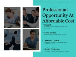 Professional Opportunity At Affordable Cost Ppt Sample File