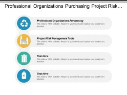 Professional Organizations Purchasing Project Risk Management Tools Sales Advertising Cpb