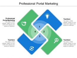 Professional Portal Marketing Ppt Powerpoint Presentation Ideas Design Templates Cpb