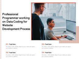 Professional Programmer Working On Data Coding For Website Development Process