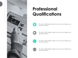 Professional Qualifications Checklist Ppt Powerpoint Presentation Pictures Format