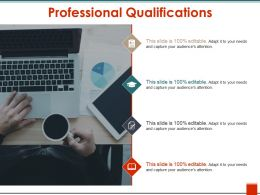 Professional Qualifications Ppt Slide Design