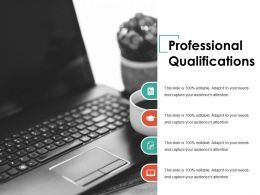 Professional Qualifications Ppt Summary Background Image