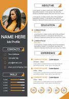 Professional Resume Illustration CV Design Template