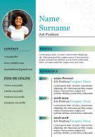 Professional Resume Powerpoint Template Design For Job Search