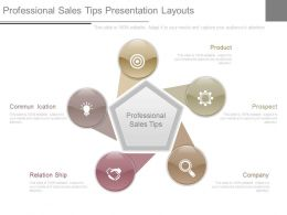Professional Sales Tips Presentation Layouts