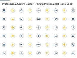 Professional Scrum Master Training Proposal It Icons Slide Ppt Ideas