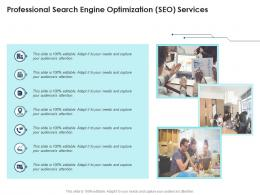 Professional Search Engine Optimization SEO Services Infographic Template