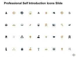 Professional Self Introduction Icons Slide Threat L795 Ppt Slide