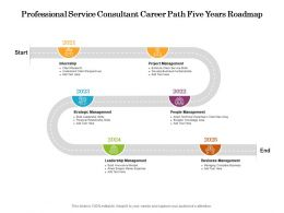 Professional Service Consultant Career Path Five Years Roadmap