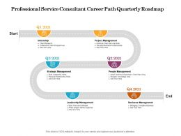 Professional Service Consultant Career Path Quarterly Roadmap
