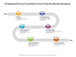 Professional Service Consultant Career Path Six Months Roadmap