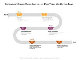 Professional Service Consultant Career Path Three Months Roadmap