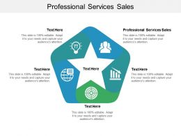 Professional Services Sales Ppt Powerpoint Presentation Portfolio Visual Aids Cpb