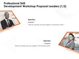 Professional Skill Development Workshop Proposal Leaders Major Highlights Ppt Powerpoint Presentation Designs