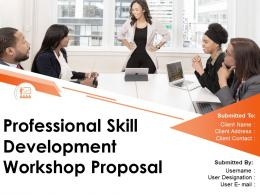 Professional Skill Development Workshop Proposal Powerpoint Presentation Slides