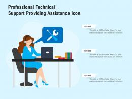 Professional Technical Support Providing Assistance Icon