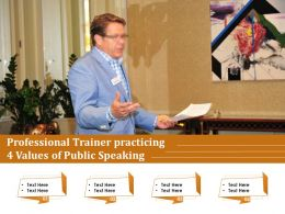 Professional Trainer Practicing 4 Values Of Public Speaking