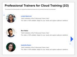 Professional Trainers For Cloud Training Capture Editable Ppt Inspiration