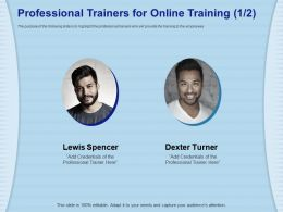 Professional Trainers For Online Training Credentials Ppt Powerpoint Presentation Gallery Guide