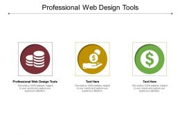 Professional Web Design Tools Ppt Powerpoint Presentation Infographics Layouts Cpb