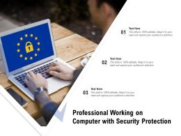 Professional Working On Computer With Security Protection