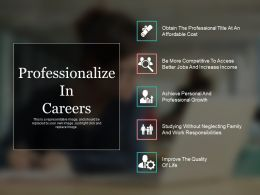 Professionalize In Careers Ppt Sample Presentations