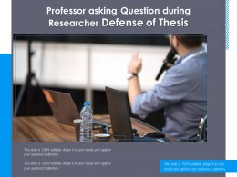 Professor Asking Question During Researcher Defense Of Thesis