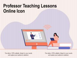 Professor Teaching Lessons Online Icon