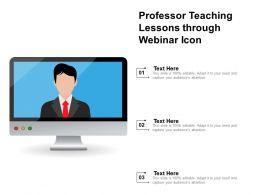 Professor Teaching Lessons Through Webinar Icon