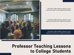 Professor Teaching Lessons To College Students