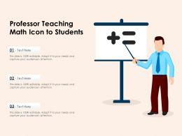 Professor Teaching Math Icon To Students