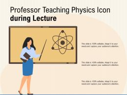 Professor Teaching Physics Icon During Lecture