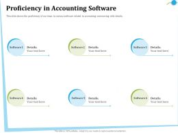 Proficiency In Accounting Software Details Ppt Powerpoint Presentation Portfolio Files