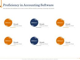 Proficiency In Accounting Software Our Team Powerpoint Presentation Sample