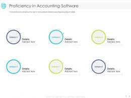 Proficiency In Accounting Software Team Ppt Powerpoint Presentation Slides Vector