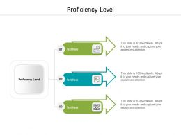 Proficiency Level Ppt Powerpoint Presentation Icon Picture Cpb