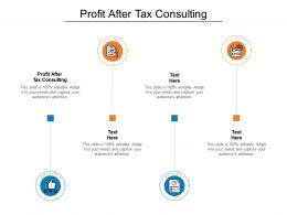 Profit After Tax Consulting Ppt Powerpoint Presentation Ideas Slides Cpb