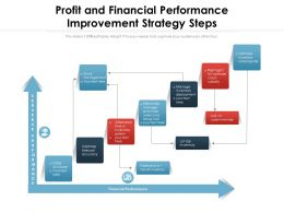 Profit And Financial Performance Improvement Strategy Steps