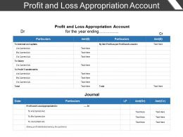 Profit And Loss Appropriation Account Presentation Portfolio