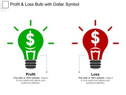 Profit And Loss Bulb With Dollar Symbol