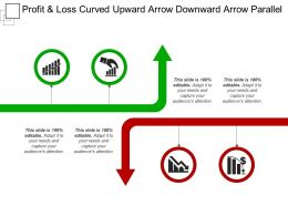 Profit And Loss Curved Upward Arrow Downward Arrow Parallel