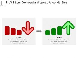 Profit And Loss Downward And Upward Arrow With Bars