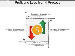 Profit And Loss Icon 4 Process Ppt Sample Download