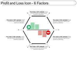 Profit And Loss Icon 6 Factors Ppt Background